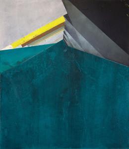 """Ecken 2"", acrylic and oil on canvas, 100 x 100 cm, 2015"